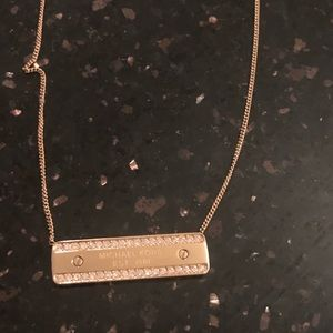 Michael Kors gold plate necklace